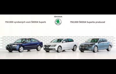 SKODA Superb - 750.000 de masini