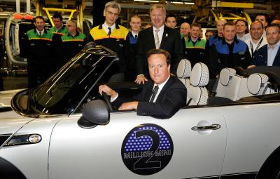 Fabrica MINI - premierul David Cameron