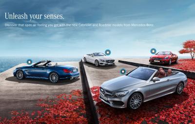 Mercedes-Benz Cabriolet - Unleash your senses