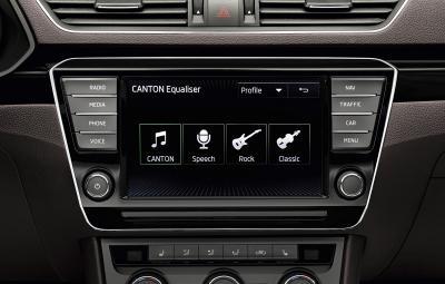 Noua SKODA Superb - sistem audio CANTON