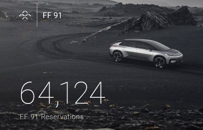 Faraday Future FF 91 - record rezervari