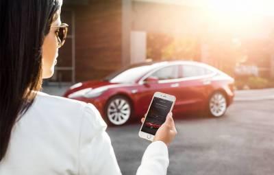 Tesla Model 3 - aplicație acces