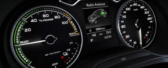 Audi A3 e-tron - afişajul ceasurilor de bord
